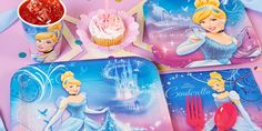 Your little princess deserves to be the belle of her ball! Do that with a Cinderella Sparkle Party Pack.   #cinderella #movie #disney #princess