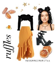 Designer Clothes, Shoes & Bags for Women Boohoo, Ballet Skirt, Orange, Shoe Bag, Skirts, Polyvore, Stuff To Buy, Outfits, Shopping