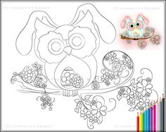 Little Miss Easter Hooty  Easter Owl / by concettasdesigns on Etsy, $2.50