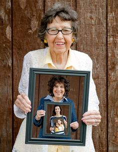 One of the BEST Pinterest idea I used. 4 generation picture of my 92 year old grandma (yes, that's her real hair color that she's NEVER colored - amazing), my mom, myself and my 2 daughters.  We will always treasure this special picture. My grandparents' barn was used as the backdrop which gives it character as well.