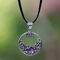 Amethyst floral necklace, 'Frangipani Moon' from @NOVICA, They help #artisans succeed worldwide.
