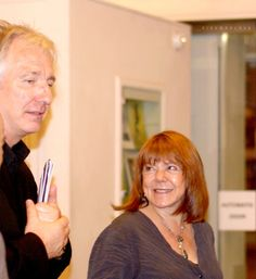 June 28, 2008 - Alan Rickman and Rima Horton following his narration of a dance event, Reading Room, in Eastleigh, England.
