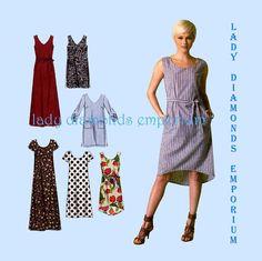 McCalls M7120 Womens Plus Size Dress 6 Variations size L XL