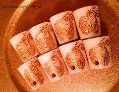 100 Dazzling Henna Candles with Jewel Tone by HennaCreationsofeNVy