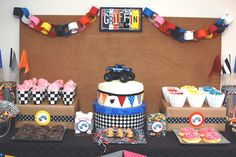monster jam and lots of dirt:) Birthday Party Ideas   Photo 7 of 79   Catch My Party