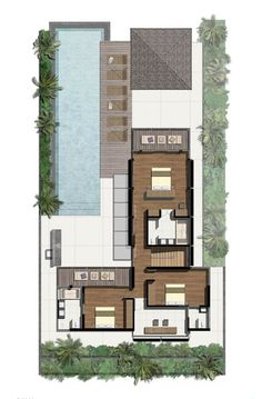 Image 25 of 25 from gallery of SAVA / Original Vision. Modern House Plans, Small House Plans, Modern House Design, House Floor Plans, Craftsman Floor Plans, Bali House, Architectural Floor Plans, Villa Plan, House Blueprints