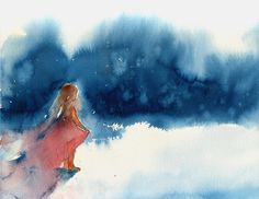 "original watercolor ""peace"""