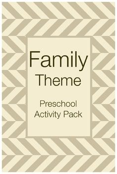 The Family Theme Preschool Activities includes 10 hands-on, printable learning activities centered around the theme of family.These activities address beginning reading skills, sight words, and writing for a variety of purposes. The product of these activities will be treasured by family members. $2