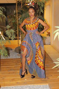 Maxi jupe total wax dashiki rose African Style, African Fashion, Fashion 2016, Spring Fashion, Dashiki, African Fabric, Maxis, Gypsy Style, Fabrics