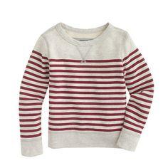 Always cool and always comfortable, a classic sweatshirt should be in every guy's style starter kit. Add in nautical stripes and you get a 100% can't-miss style. <ul><li>Cotton.</li><li>Long sleeves.</li><li>Machine wash.</li><li>Import.</li></ul>