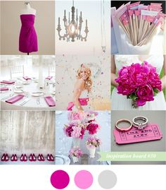 hot pink wedding inspiration