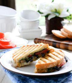 Caramelized Onion, Mushroom & Swiss Panino by @Paula - bell'alimento
