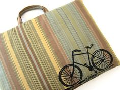 Vintage Bicycle laptop bag