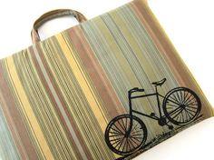 Vintage Bicycle laptop bag