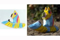 Crayon Creatures. Turn your kid's art into a sculpture with 3D printing!