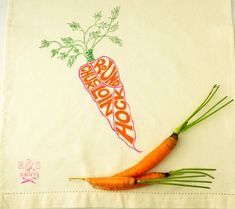 Hey, I found this really awesome Etsy listing at http://www.etsy.com/listing/163002613/tea-towel-with-carrot-screen-print-in