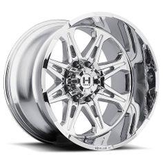 Hostile Wheels / HAVOC 8-Spoke FINISH: Armor Plate SIZES: 18x9, 20x9, 20x10, 20x12, 22x14 BOLT PATTERN: 6X135, 6X139.7, 8X165.1, 8X170, 8X180