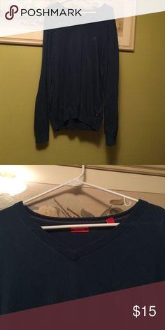 Men's blue Izod v neck sweater size M Men's blue Izod v neck sweater size medium Izod Sweaters V-Neck