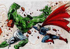 Hulk Vs Superman fisticuffs