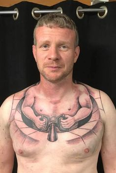 Chest tattoos for men trucker gets hilarious chest tattoo that makes him look like hes driving . chest tattoos for men Clever Tattoos, Weird Tattoos, Creative Tattoos, Small Tattoos, Tattoos For Guys, New Tattoos, Worst Tattoos, Temporary Tattoos, Mens Neck Tattoos