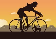 Sexy woman with bike and puppies Design with Adobe Illustrator by Eric Scherrer Adobe Illustrator, Sexy Women, Bike, Puppies, Woman, Illustration, Design, Road Racer Bike, Pet Dogs