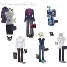 """""""Cool Summer Hourglass Capsule - Part 1"""" by nofailformula on Polyvore"""
