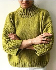 Knitting patterns, knitting designs, knitting for beginners. Sweater Knitting Patterns, Knitting Stitches, Knitting Designs, Knitting Needles, Knit Patterns, Hand Knitting, Knit Fashion, Pulls, Knit Crochet