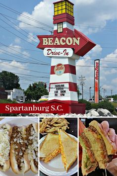 We stopped in the infamous Beacon Drive In at Spartanburg S.C. to try their famous hot dogs, burgers and tea. Read our review along with more hot dog joints we share on our Hot Dog Tour. #hotdogjoints #beacondrivein #hotdogtour Usa Travel, Travel Tips, Romantic Weekend Getaways, Fairs And Festivals, Best Family Vacations, United States Travel, Travel Information, Summer Recipes, South Carolina