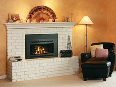 Simple and warm fireplace idea