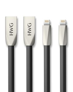 HWG USB to Lightning Cable 2-Pack for iPhone 7 6S / 6 Plus, iPhone SE, iPhone 5S 5C 5, iPad, iPod - 3.3 Feet - 1 meter - Zinc-Alloy - Tangle-Free (Black+Black)