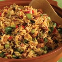 Vegetable Jambalaya- I would sub real meat for the fake stuff, though. . .