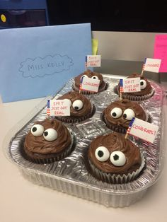 Shit Just Got Real Poop Emoji Cupcakes For College