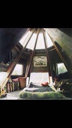 Skylight bedroom.