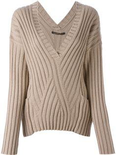 Agnona Ribbed V-neck Sweater - Splash By The Beach - Farfetch.com