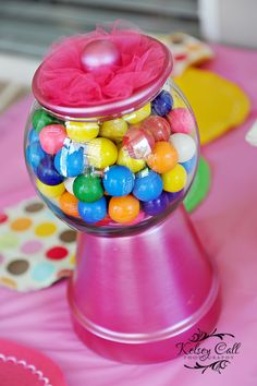 Gumball machine as one centerpiece
