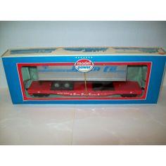 MODEL POWER TRAIN FLAT CAR WITH SANTA FE TRAILER HO SCALE #6910