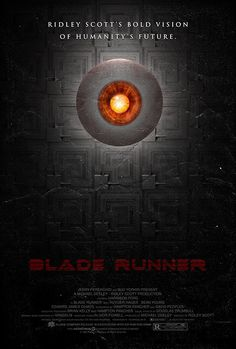 Blade Runner 27x40 (Theatrical Size) Movie Poster. $50,00, via Etsy.