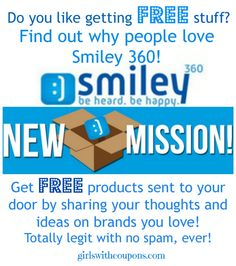 Get #FREE #Products from @Smiley360! http://www.girlswithcoupons.com/get-free-products-from-smiley-360/ I have an entire line of #Crest Products coming any day now and have received items from them before like several items within a BBQ Sauce package, cooking spices and more, so I know this is legit! The more missions you complete and share with friends and family, the more missions you get.
