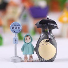 3pcs/set Totoro Garden Miniatures Terrarium Figurines Hayao Miyazaki Toys Resin Crafts For Home Decor Mini Garden Accessories-in Resin Crafts from Home & Garden on Aliexpress.com | Alibaba Group