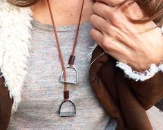 This beautiful stirrup necklace with its simple, yet elegant style, looks amazing for an understated everyday look. If you love horses and everything equestrian, this necklace is a must.