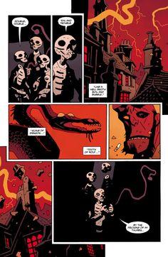 Hellboy in Hell - Mike Mignola Mike Mignola Art, Buy Comics, Comic Layout, Graphic Novel Art, Novel Characters, Collage Illustration, Magic Book, Comic Panels, Comics