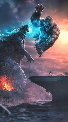 Godzilla Vs Kong Fighting 4K Ultra HD Mobile Wallpaper. King Kong Vs Godzilla, Joker Iphone Wallpaper, Godzilla Wallpaper, Hd Wallpaper, Amazing Wallpaper, Movie Wallpapers, Animes Wallpapers, Iphone Wallpapers, Madara Susanoo