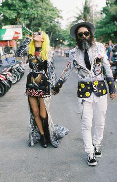 Ainsley & Sebastien Part Three: The Bali Anniversary Shoot · Rock n Roll Bride Rocker Wedding, Edgy Wedding, Wedding Shoot, Wedding Couples, Dream Wedding, Wedding Dresses, Hipster Wedding, Photo Couple, Couple Shoot