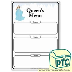 Snow Queen Role Play Resources - Winter Printables for a Foundation Phase / Early Years classroom - Primary Treasure Chest Teaching Activities, Teaching Ideas, Early Years Classroom, Ourselves Topic, Snow Queen, Role Play, Treasure Chest, Worksheets, Crafts For Kids