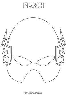Maschere Di Supereroi Da Colorare Per Bambini Mascaras Para