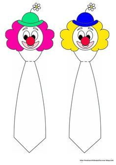 """ le clown et sa cravate "" Clown Crafts, Carnival Crafts, Clown Party, Le Clown, Clown Faces, Drawing For Kids, Painting For Kids, Theme Carnaval, Karneval Diy"