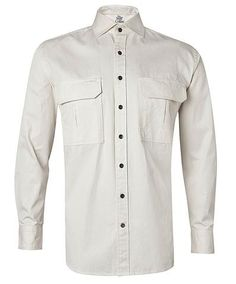 Outdoors Safari Shirts and Vests Outdoor Range, Safari Shirt, Outdoors, Shirt Dress, Mens Tops, Cotton, Shirts, Collection, Fashion