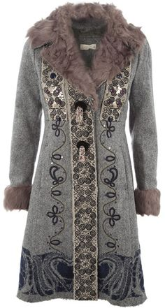 Patterned Sequin/bead Coat - Lyst