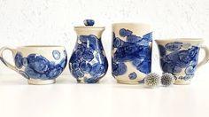 """36 kedvelés, 3 hozzászólás – Ceramiss Ceramic (@ceramiss) Instagram-hozzászólása: """"Itt a piros kollekció kék párja. 🎃 #pots #pottery #ceramicart #homedecor #homeware #tableware…"""" Sugar Bowl, Bowl Set, Ceramics, Instagram, Home Decor, Ceramica, Pottery, Decoration Home, Room Decor"""