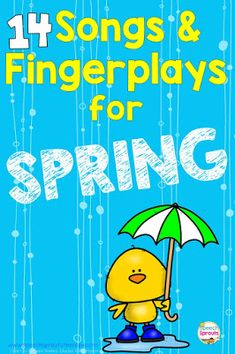 14 Preschool Songs and Fingerplays for Spring Speech Therapy - - 14 Preschool Spring songs and fingerplays that are terrific for learning speech and language plus spring crafts for kids, game ideas and spring speech therapy activities. Preschool Spring Songs, Spring Crafts For Kids, Preschool Lessons, Spring Activities, Preschool Activities, Spring Songs For Kids, Kids Songs, Fingerplays For Preschoolers, Preschool Movement Songs
